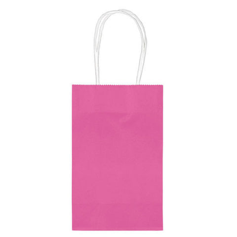 Bright Pink Paper Party Bags, 10ct