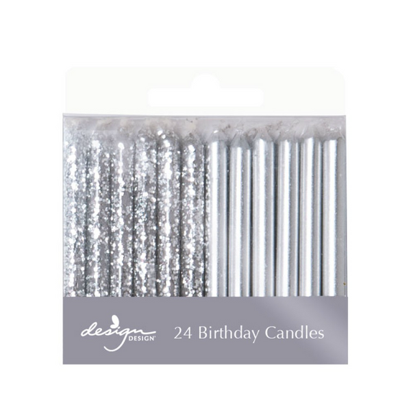 Glitter Metallic Candles 24pcs