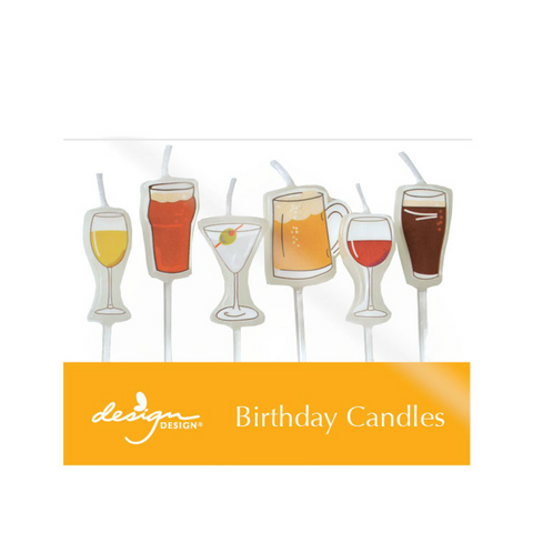 Beer and Cocktail Candles, 6ct