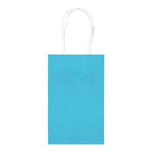 Caribbean Blue Paper Party Bags, 10ct