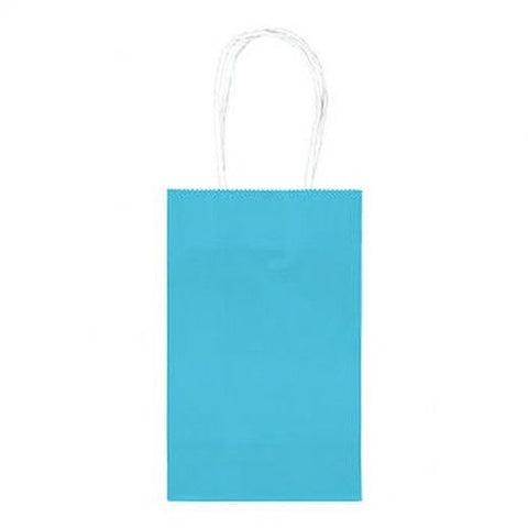 Caribbean Blue Paper Party Bags, 10pcs