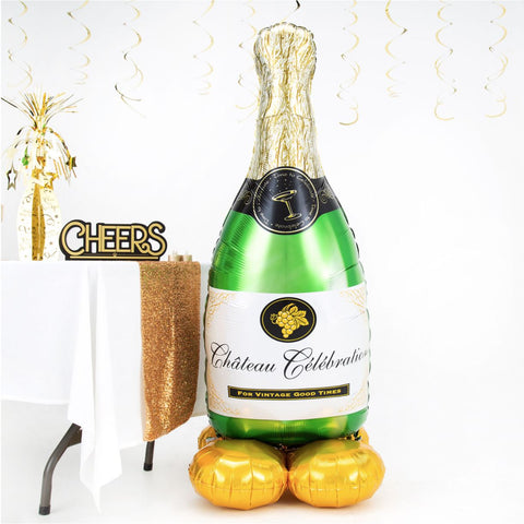 Champagne Bottle AirLoonz Foil Balloon