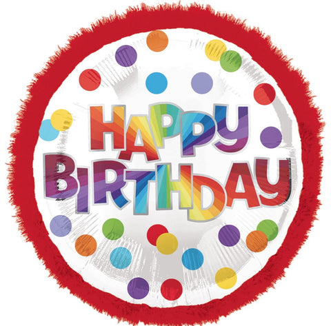Multicolour Dots Happy Birthday Foil Balloon