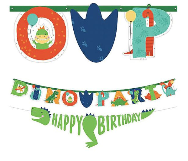 Dinosaur Dinomite Add-An-Age Happy Birthday Banner