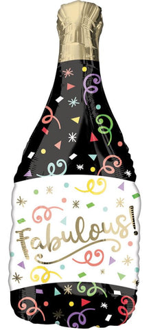 Champagne Bottle Personalisable Foil Balloon