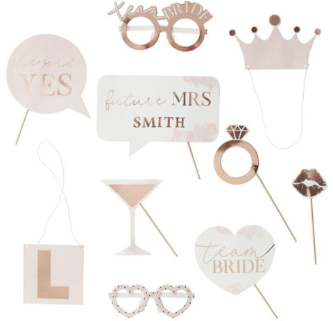 Hen Party Photo Props, 10pcs