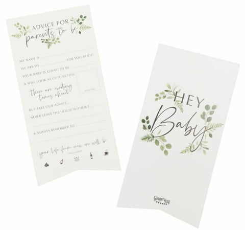 Baby Shower Advice Cards for Parents