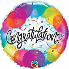 Colourful Congratulations Foil Balloon