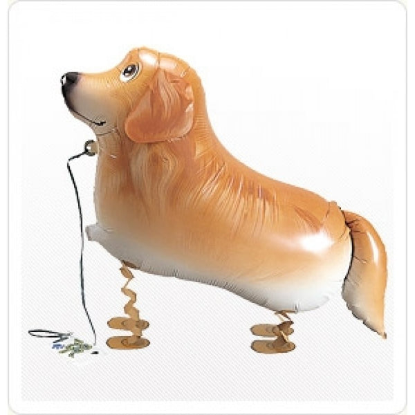 Airwalker Golden Retriever Foil Balloon