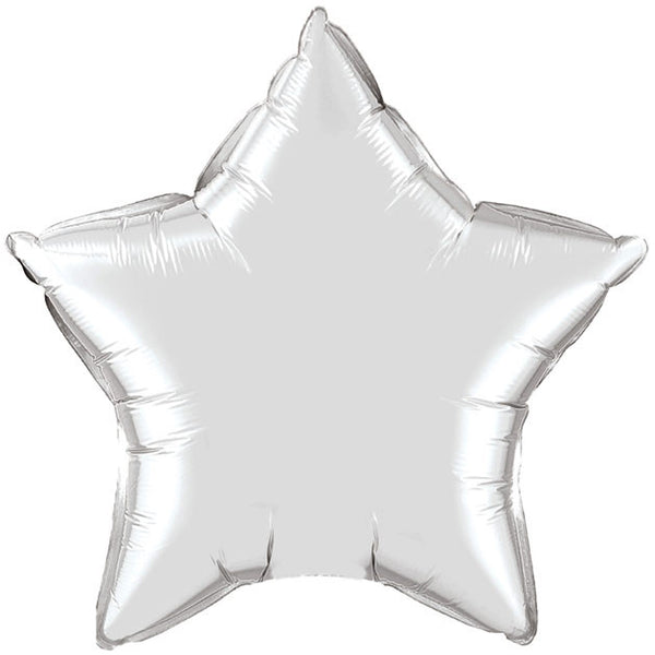 Metallic Silver Star Foil Balloon