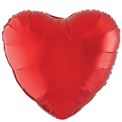 Metallic Red Heart Foil Balloon