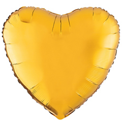 Metallic Gold Heart Foil Balloon