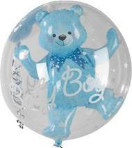 Baby Boy Bear Bubble Balloon