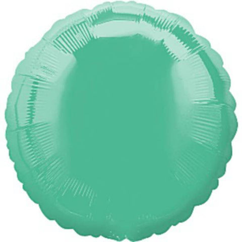 Pale Green Round Foil Balloon