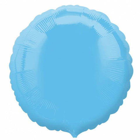 Pale Blue Round Foil Balloon