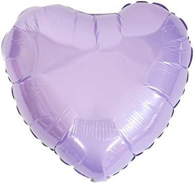 Pearl Purple Heart Foil Balloon