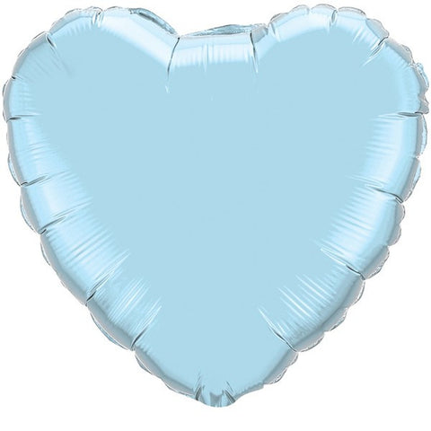 Pearl Light Blue Heart Foil Balloon