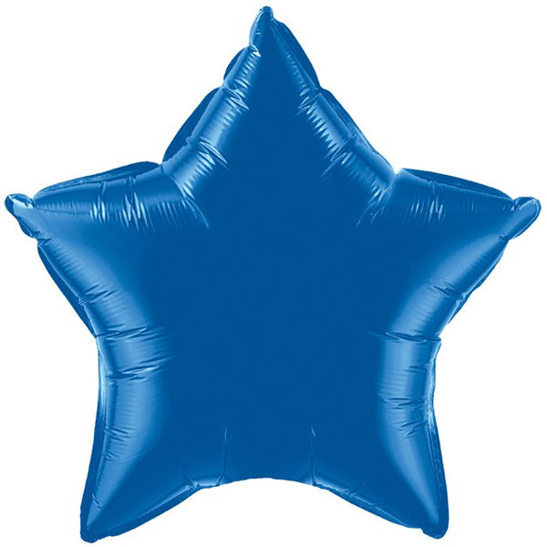 Dark Blue Star Foil Balloon