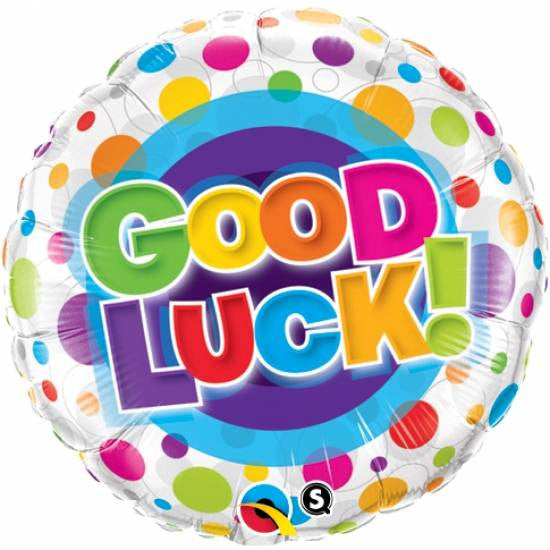 Colorful Dots Good Luck Foil Balloon