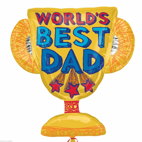 World's Best Dad Trophy Foil Balloon