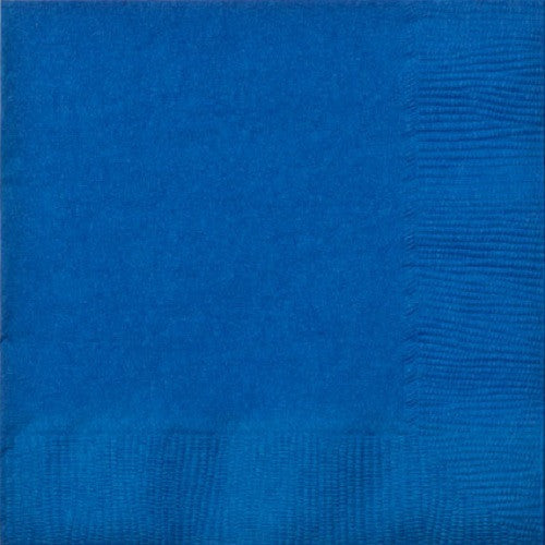 3 Ply Royal Blue Luncheon Napkins, 20ct
