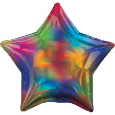 Rainbow Star Foil Balloon