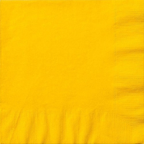 3 Ply Yellow Lunch Napkins 20pcs