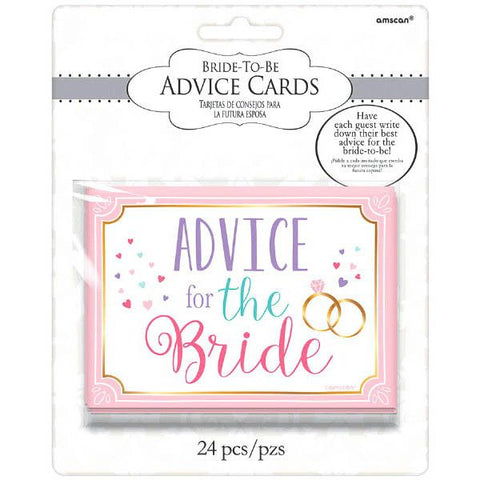 Advice Cards for the Bride, 24 Pcs