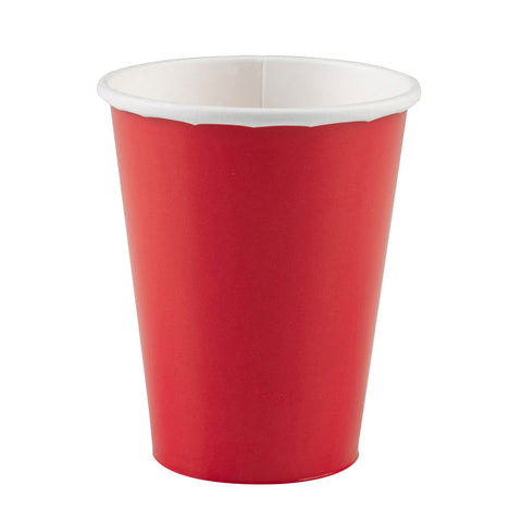 Apple Red Paper Cups, 8 Pcs