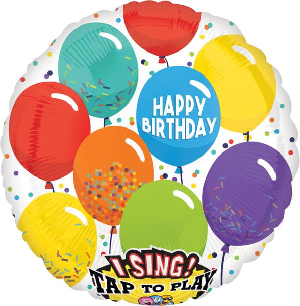 Sing-A-Tune Happy Birthday Foil Balloon
