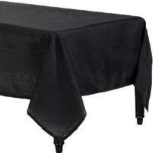 Black Fabric Table Cover
