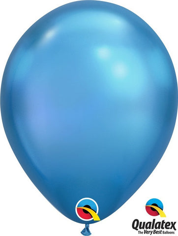 Chrome Blue Latex Balloon