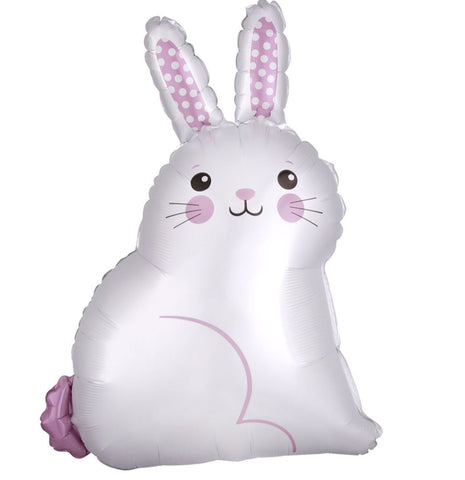 White Satin Bunny Foil Balloon