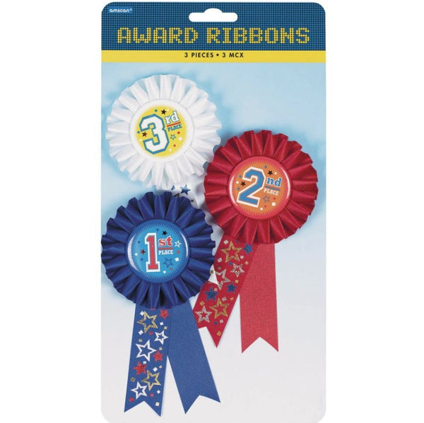 Award Ribbons, 1st, 2nd & 3rd Place