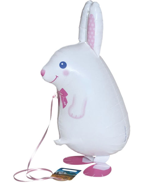 Airwalker Rabbit White Foil Balloon