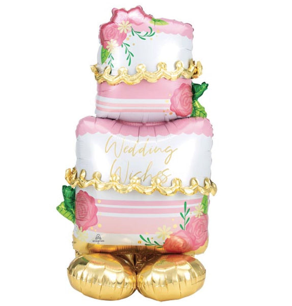Wedding Cake AirLoonz Foil Balloon