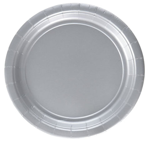 Silver Paper Plates, 8ct (2 sizes)