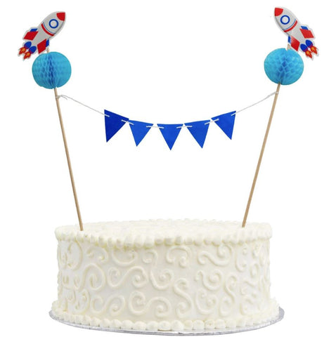 Space Honeycomb Bunting Cake Topper
