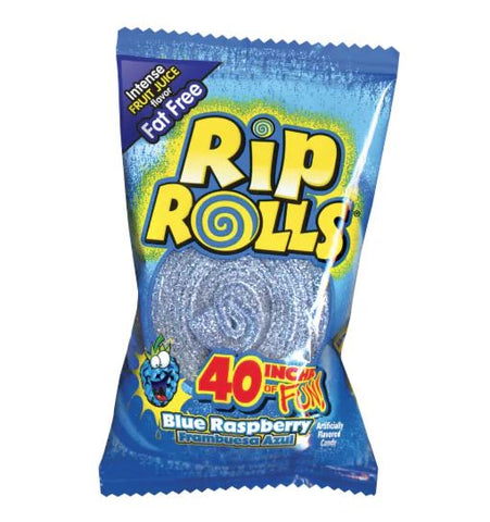 Rip Rolls Sour Blue Raspberry