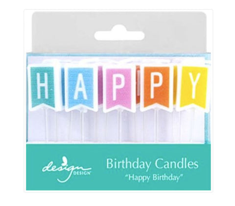 Happy Birthday Flag Candles, 13ct