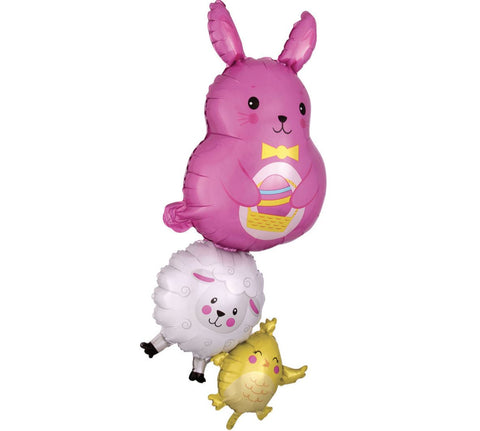 Bunny, Lamb & Chick Foil Balloon