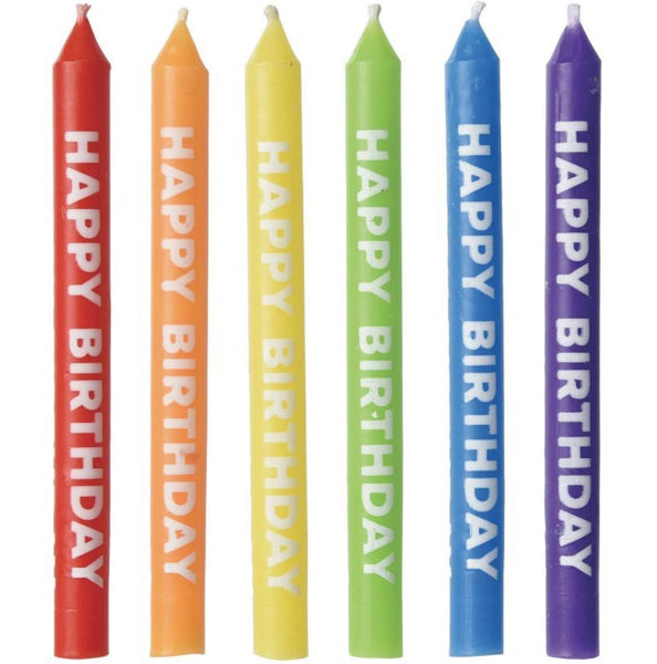 Happy Birthday Primary Candles, 12ct