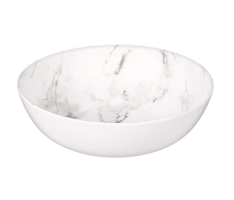 Faux Marble Large Serving Bowl