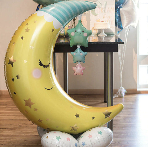 Baby Shower Moon & Stars AirLoonz Foil Balloon