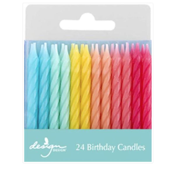 Rainbow Soft Candles, 24ct