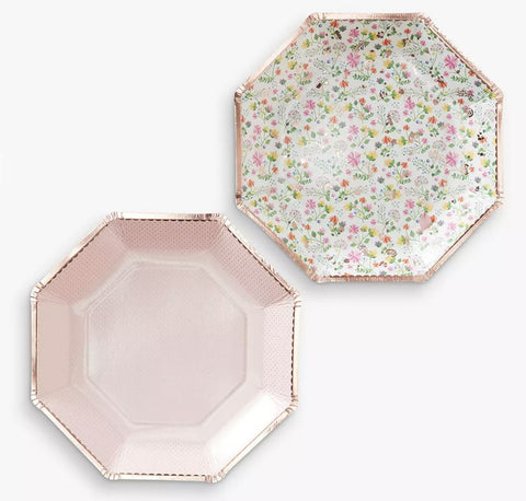 Ditsy Floral Paper Plates, 8ct