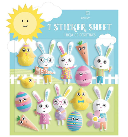Easter Characters Puffy Stickers