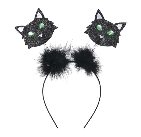 Halloween Black Cat Headbopper