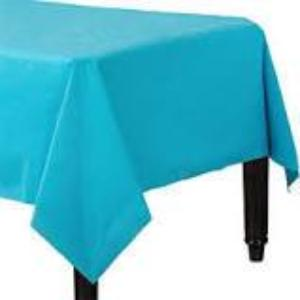 Caribbean Blue 3 Ply Paper Table Cover