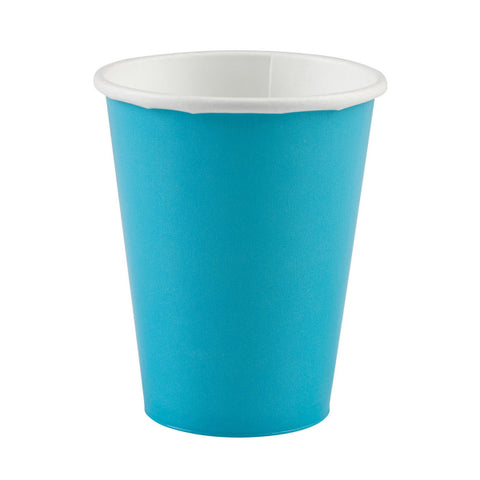 Caribbean Blue Paper Cups, 8ct